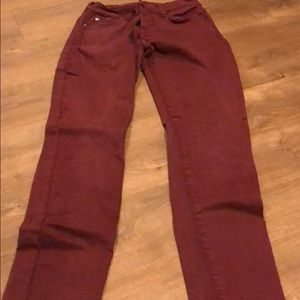 7 for all mankind Burgundy Straight fit Pants 23